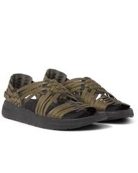 Sandales en toile olive