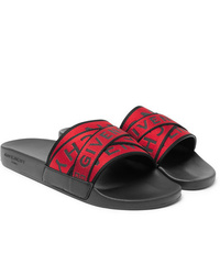 Sandales en toile rouges Givenchy