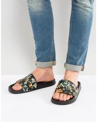 Sandales imprimées noires Asos