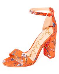 Sandales imprimées orange Sam Edelman