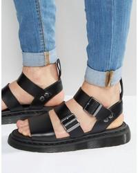 Sandales noires Dr. Martens