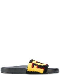 Sandales noires Fendi