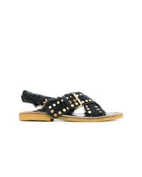Sandales noires Prada