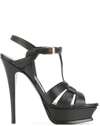 Sandales noires Saint Laurent