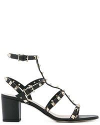 Sandales noires Valentino Garavani