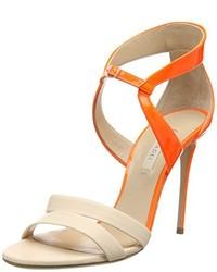 Sandales orange Casadei