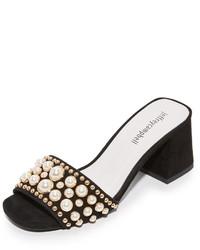 Sandales ornées noires Jeffrey Campbell