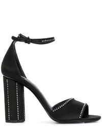 Sandales ornées noires Salvatore Ferragamo