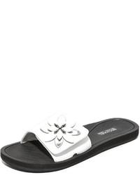 Sandales plates blanches MICHAEL Michael Kors