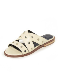 Sandales plates blanches Rebecca Minkoff