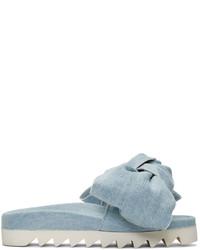 Sandales plates bleu clair Joshua Sanders