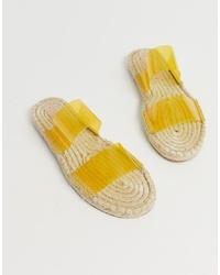 Sandales plates en caoutchouc jaunes ASOS DESIGN