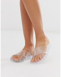 Sandales plates en caoutchouc transparentes ASOS DESIGN
