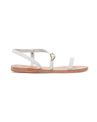 Sandales plates en cuir blanches Ancient Greek Sandals