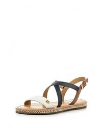 Sandales plates en cuir multicolores