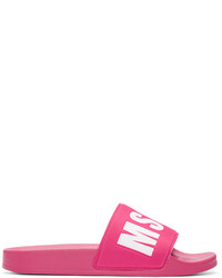 Sandales plates fuchsia MSGM