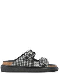 Sandales plates gris foncé Isabel Marant