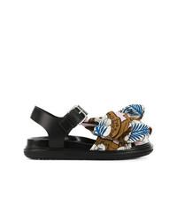 Sandales plates multicolores Marni