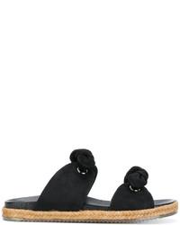 Sandales plates noires Jimmy Choo