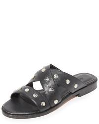 Sandales plates noires Rebecca Minkoff
