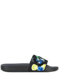 Sandales plates pailletées noires MSGM