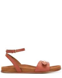 Sandales plates tabac Stella McCartney