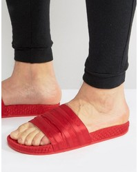 Sandales rouges adidas