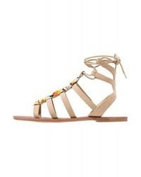 Sandales spartiates brunes claires Even&Odd