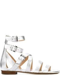 Sandales spartiates en cuir blanches MICHAEL Michael Kors