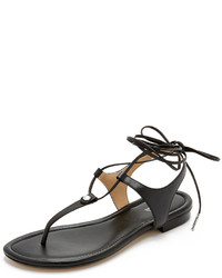 Sandales spartiates en cuir noires MICHAEL Michael Kors