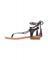 Sandales spartiates en cuir noires Nine West
