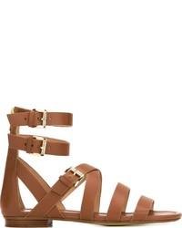 Sandales spartiates en cuir tabac MICHAEL Michael Kors