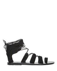 Sandales spartiates en daim noires