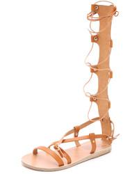 Sandales spartiates hautes marron Ancient Greek Sandals