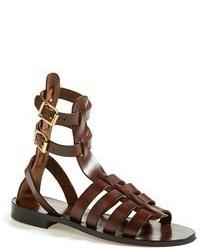 Sandales spartiates marron foncé