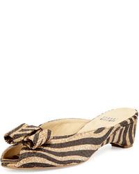 Sandales tressées marron clair