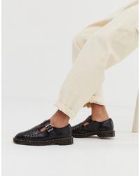 Sandales tressées noires Dr. Martens