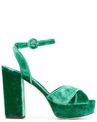 Sandales vert foncé Dolce & Gabbana