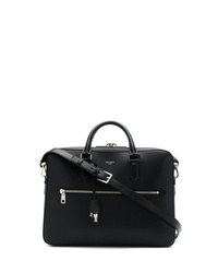Serviette en cuir noire Dolce & Gabbana