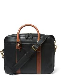 Serviette en cuir noire Polo Ralph Lauren