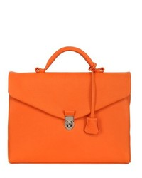 Serviette en cuir orange