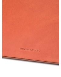 Serviette en cuir tabac Mansur Gavriel