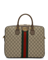 Serviette en toile marron Gucci