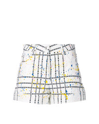 Short à carreaux blanc MSGM