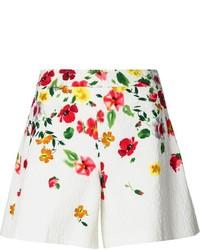 Short à fleurs blanc