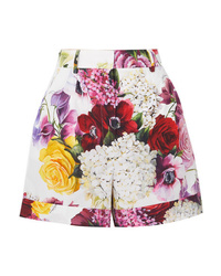 Short à fleurs blanc Dolce & Gabbana