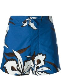 Short à fleurs bleu marine Marni