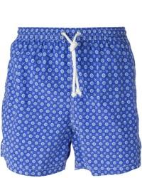 Short à fleurs bleu Kiton