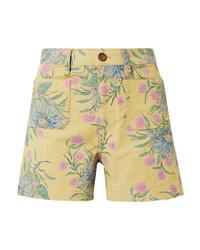 Short à fleurs jaune Madewell