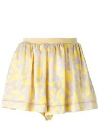 Short à fleurs jaune Missoni